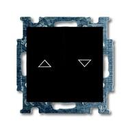 2CKA001012A2176 - Механизм 2-клавишного, 1-полюсного выключателя жалюзи с фиксацией с клавишей, серия Basic 55, цвет chateau-black