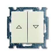 2CKA001012A2186 - Механизм 2-клавишного, 1-полюсного выключателя жалюзи с фиксацией с клавишей, серия Basic 55, цвет chalet-white