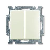 2CKA001012A2187 - Механизм 2-клавишного, 1-полюсного выключателя с клавишей, серия Basic 55, цвет chalet-white