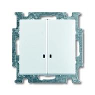 2CKA001012A2154 - Выключатель с клавишей, 2-клавишный, с подсветкой, Basic 55, альпийский белый