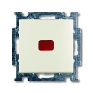 2CKA001012A2190 - Механизм 1-клавишного, 1-полюсного переключателя, с клавишей, с линзой подсветки, с неоновой лампой, с N-клеммой, серия Basic 55, цвет chalet-white