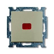 2CKA001413A1093 - Механизм 1-клавишной, 1-полюсной кнопки (нормально-открытый контакт), с N-клеммой, с клавишей, с полем для надписи, с символом ЗВОНОК, серия Basic 55, цвет шампань