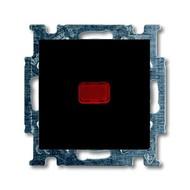 2CKA001413A1097 - Механизм 1-клавишной, 1-полюсной кнопки (нормально-открытый контакт), с N-клеммой, с клавишей, с полем для надписи, с символом ЗВОНОК, серия Basic 55, цвет chateau-black
