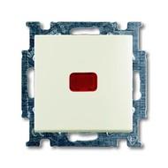 2CKA001413A1101 - Механизм 1-клавишной, 1-полюсной кнопки (нормально-открытый контакт), с N-клеммой, с клавишей, с полем для надписи, с символом ЗВОНОК, серия Basic 55, цвет chalet-white