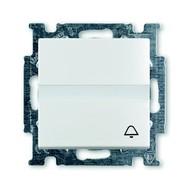 2CKA001413A1086 - Кнопка звонковая, н.о. контакт, с полем для надписи, Basic 55, альпийский белый