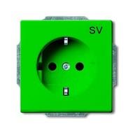 2CKA002011A3722 - Розетка SCHUKO 16А 250В, серия solo/future, зеленая
