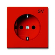 2CKA002011A6153 - Розетка SCHUKO 16А 250В, с маркировкой SV, серия Basic 55, цвет оранжевый