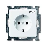 2CKA002011A3854 - Розетка SCHUKO, с маркировкой DATA, альпийский белый