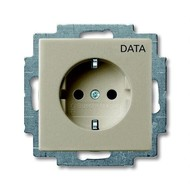 2CKA002011A6141 - Розетка SCHUKO 16А 250В, с маркировкой DATA, серия Basic 55, цвет шампань