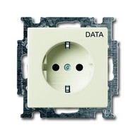 2CKA002011A6145 - Розетка SCHUKO 16А 250В, с маркировкой DATA, серия Basic 55, цвет chalet-white