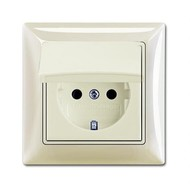 2CKA002018A1503 - Розетка SCHUKO 16А 250В, IP44, в сборе, серия Basic 55, цвет chalet-white