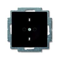 2CKA002013A5338 - Розетка SCHUKO 16А 250В, с защитными шторками, серия Basic 55, цвет chateau-black