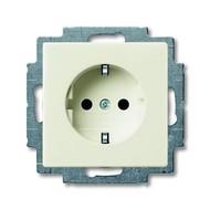 2CKA002013A5339 - Розетка SCHUKO 16А 250В, с защитными шторками, серия Basic 55, цвет chalet-white