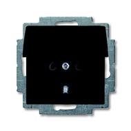2CKA002018A1499 - Розетка SCHUKO 16А 250В, с крышкой, серия Basic 55, цвет chateau-black