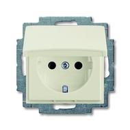 2CKA002018A1500 - Розетка SCHUKO 16А 250В, с крышкой, серия Basic 55, цвет chalet-white