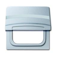 2CKA001710A3787 - Плата промежуточная с крышкой для центральных плат серий Busch-Duro 2000 SI и Reflex SI, с полем для надписи, IP44, серия Allwetter 44, цвет серебристо-алюминиевый