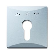 2CKA001710A3804 - Плата центральная (накладка) с поворотной ручкой, с маркировкой для механизма выключателя жалюзи с зам. 2712/2713 U и 2722/2723 U, IP44, серия Allwetter 44, цвет серебристо-алюминиевый