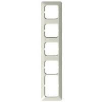 2525 - Рамка 5-постовая, 1 пост 2Schuko + 4 поста Schuko, серия Jussi, белый