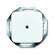 2CKA001710A0110 - Плата центральная (накладка) для вывода кабеля, с суппортом, с компенсатором натяжения, серия Reflex SI, цвет альпийский белый