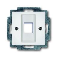 2CKA001753A0213 - Плата центральная (накладка) для коммуникационных розеток 0210, 0211 и 0219, без лапок, серия Basic 55, цвет альпийский белый