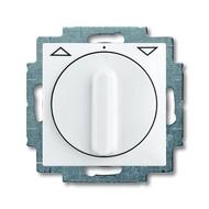 2CKA001101A0920 - Выключатель жалюзи с накладкой, 1P+N+E, альпийский белый