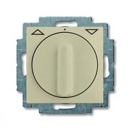 2CKA001101A0926 - Механизм выключателя жалюзи повортоный, с накладкой, с ручкой, с фиксацией, 1P+N+E, серия Basic 55, цвет шампань