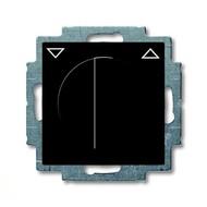 2CKA001101A0928 - Механизм выключателя жалюзи повортоный, с накладкой, с ручкой, с фиксацией, 1P+N+E, серия Basic 55, цвет chateau-black