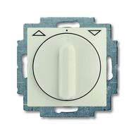 2CKA001101A0930 - Механизм выключателя жалюзи повортоный, с накладкой, с ручкой, с фиксацией, 1P+N+E, серия Basic 55, цвет chalet-white