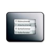 6730-0-0007 - LED-индикатор 6730-20, радиоприемник настенный клавишный, alpha, платина