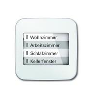 6730-0-0002 - LED-индикатор 6730-214, радиоприемник настенный клавишный, Reflex SI, альпийский белый