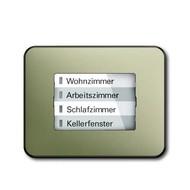 6730-0-0005 - LED-индикатор 6730-260, радиоприемник настенный клавишный, alpha, палладий