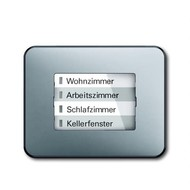 6730-0-0006 - LED-индикатор 6730-266, радиоприемник настенный клавишный, alpha, титан