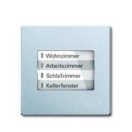 6730-0-0016 - LED-индикатор 6730-83, радиоприемник настенный клавишный, future, серебристый алюминий