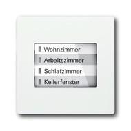 6730-0-0026 - LED-индикатор 6730-884, радиоприемник настенный клавишный, future, белый бархат