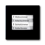 6730-0-0027 - LED-индикатор 6730-885, радиоприемник настенный клавишный, future, черный бархат