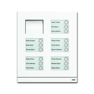 2CKA008300A0279 - Станция вызывная, аудио, пятнадцатиклавишная, цвет белый матовый