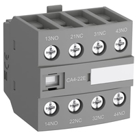 1SBN010140R1004 - Блок контактный дополнительный CA4-04E (4НЗ) для контакторов AF26…AF96..-30-00 и AF09…AF38..-22-00