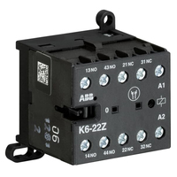 GJH1211001R0221 - Миниконтактор K6-22-Z 3A (400В AC3) катушка 24В AC