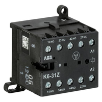 GJH1211001R0311 - Миниконтактор K6-31-Z 3A (400В AC3) катушка 24В АС