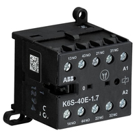 GJH1213001R7401 - Миниконтактор К6S-40-Е-1.7 3A (400В AC3) катушка 24В DC