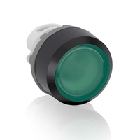 1SFA611100R1102 - Кнопка MP1-11G зеленая (только корпус) с подсветкой без фиксации
