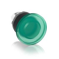 1SFA611124R1102 - Кнопка MPM1-11G ГРИБОК зеленая (только корпус) без фиксации с подсветкой 40мм