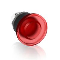 1SFA611124R1101 - Кнопка MPM1-11R ГРИБОК красная (только корпус) без фиксации с подсветкой 40мм