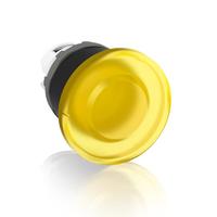1SFA611124R1103 - Кнопка MPM1-11Y ГРИБОК желтая (только корпус) без фиксации с подсветкой 40мм