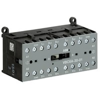 GJL1213911R0011 - Миниконтактор реверсивный VBC6A-30-01 9A (400В AC3) катушка 24B DC