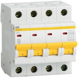 Автоматический выключатель ВА47-29 4Р 50А 4,5кА х-ка В IEK