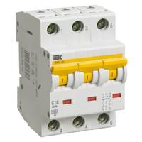 Автоматический выключатель ВА 47-60 3Р 1А 6 кА х-ка B IEK