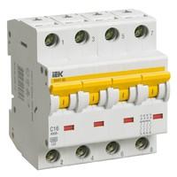 Автоматический выключатель ВА 47-60 4Р 1А 6 кА  х-ка B IEK